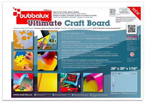 Ultimate Creative Craft Board` 20x30 in Arctic White (2 Pack) A superior choice to foam board.