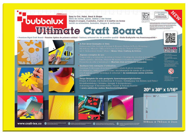 Ultimate Creative Craft Board` 20x30 in Daffodil Yellow (2 Pack) A superior choice to foam board.