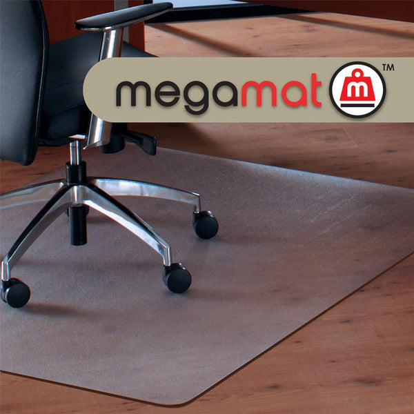 Cleartex MegaMat Heavy Duty Chair mat for Hard Floors & All Pile Carpets (46 x 53)