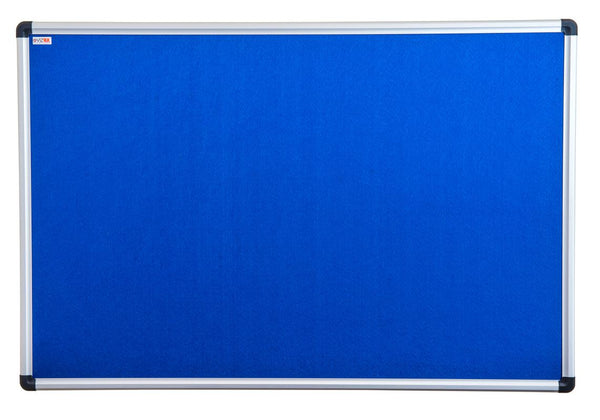 Viztex Fabric Bulletin Board with an Aluminium frame (24x18)