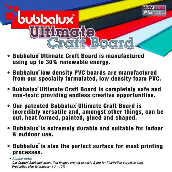 Ultimate Creative Craft Board` Letter Size in Arctic White (6 Pack) A superior choice to foam board.
