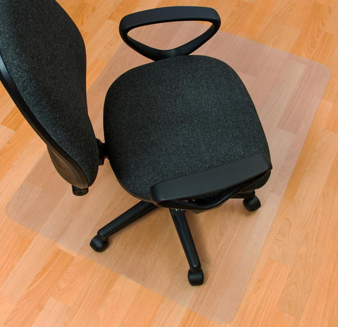 EcoTex Enhanced Polymer Rectangular Chair mat for Hard Floor (48 X 60)