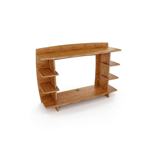 Desk Hutch Attachment` 36` Amber Bamboo