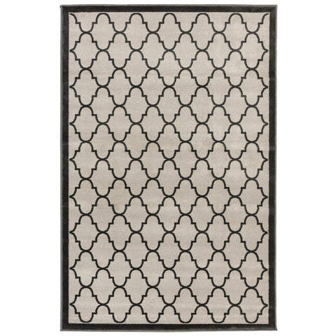 Liora Manne Monarchy Trellis Indoor Rug Grey 39X59