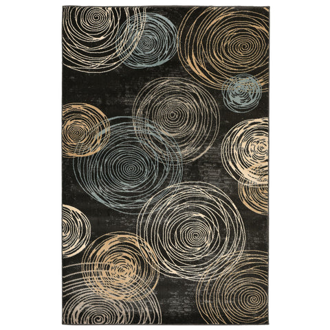 Liora Manne Nobility Constellation Indoor Rug Black 710X910