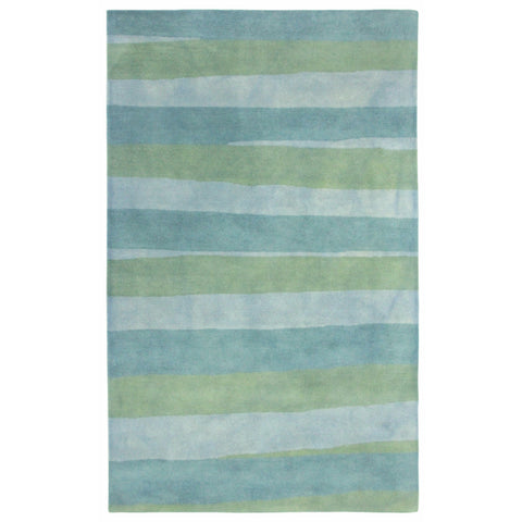 Liora Manne Piazza Stripes Indoor Rug Blue 27X8