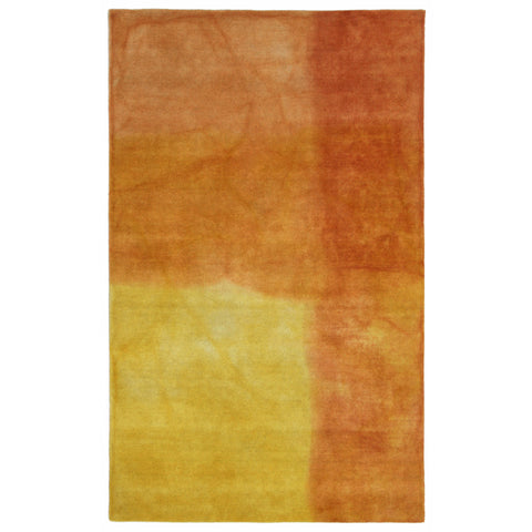 Liora Manne Piazza Watercolors Indoor Rug Orange 27X8