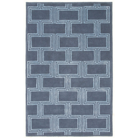 Liora Manne Roma Boxes Indoor Rug Blue 5X8