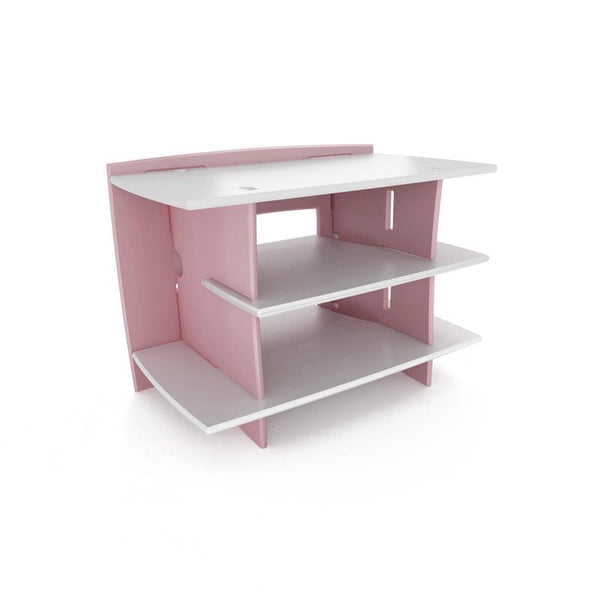 Kids Gaming Center Stand` Pink and White` 33 x 24 x 22