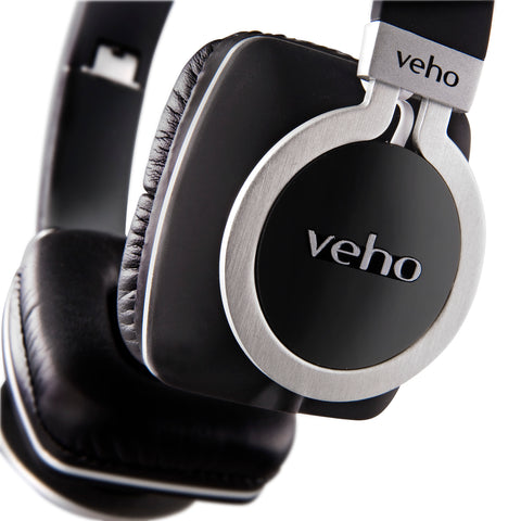 Veho Z-8 Designer Aluminium Headphones with Detachable Flex Cord System and Folding Design (VEP-008-Z8)