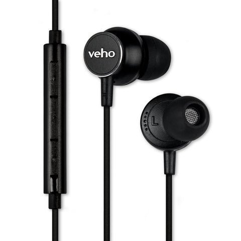 Veho Z-3 In-Ear Stereo Headphones with Built-in Microphone and Remote Control Ð Black (VEP-011-Z3)