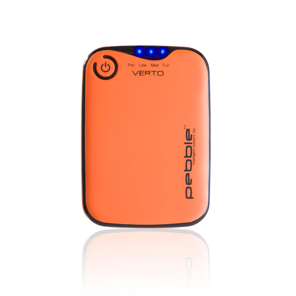 Veho VPP-201-CO Orange Pebbleª Verto Portable Battery Pack Charger for Smartphones, MP3 and USB charged devices