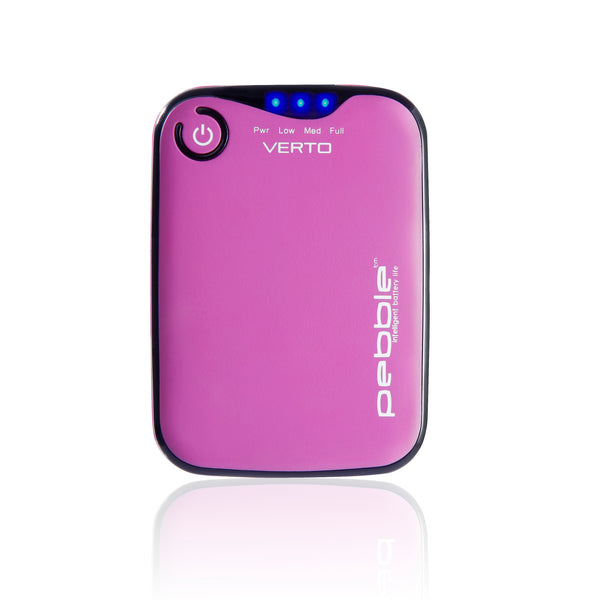 Veho VPP-201-CP Pink Pebbleª Verto Portable Battery Pack Charger for Smartphones, MP3 and USB charged devices