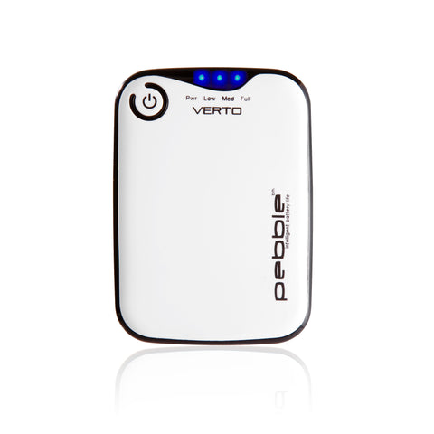 Veho VPP-201-CW White Pebbleª Verto Portable Battery Pack Charger for Smartphones, MP3 and USB charged devices
