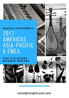 2017 Top 5 Electric Guitar Players in North America, Europe, Asia-Pacific, South America, Middle East and Africa