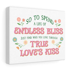 True Love's Kiss Enchanted Canvas Gallery Wraps