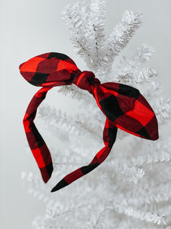 Buffalo Plaid Knot Band