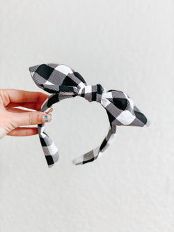 Buffalo Plaid B&W Knot Band