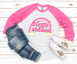 Magic & Main Street Baseball Tee