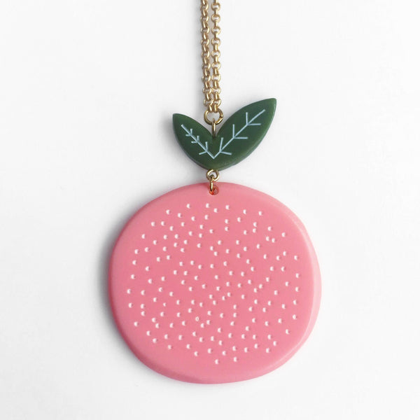 acrylic grapefruit necklace