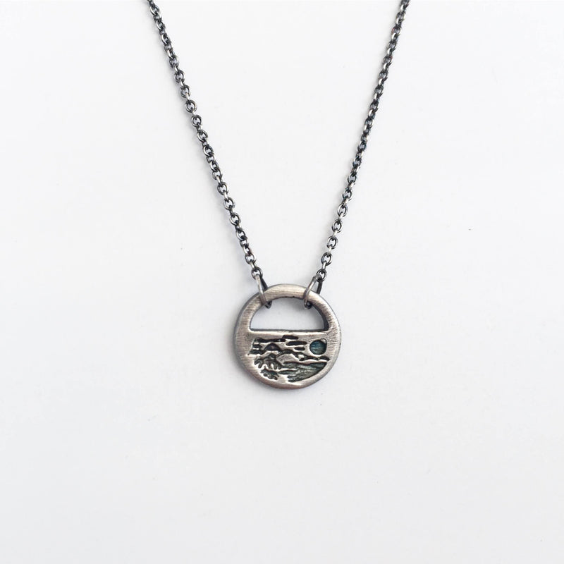 Tropical Silver Tiny Necklace