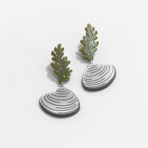 Shell with Kelp Earrings
