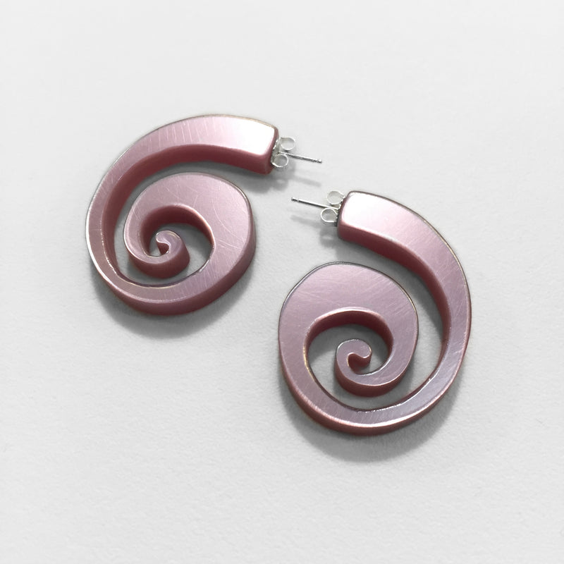Spiral Shell Hoop - Clear