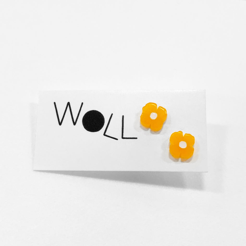 little california poppy studs by woll
