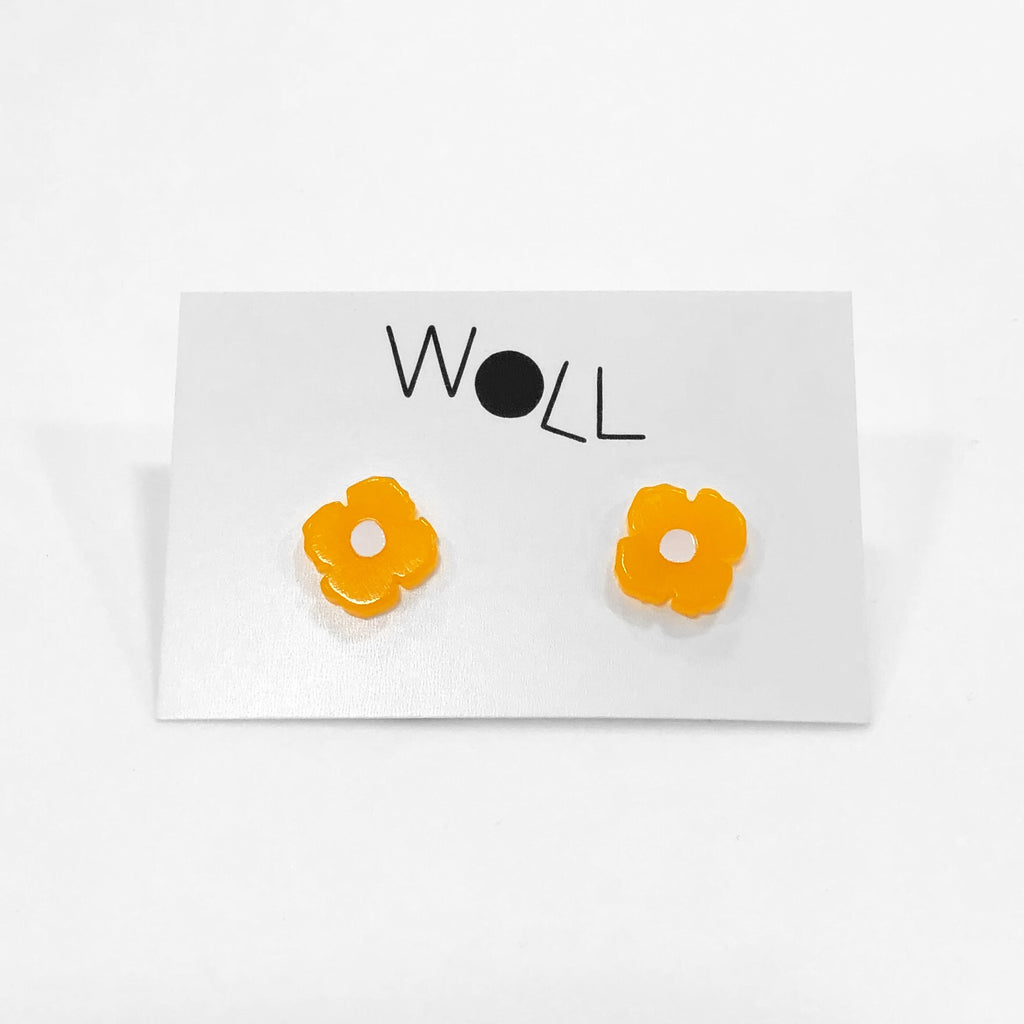 California Poppy Studs in Melon