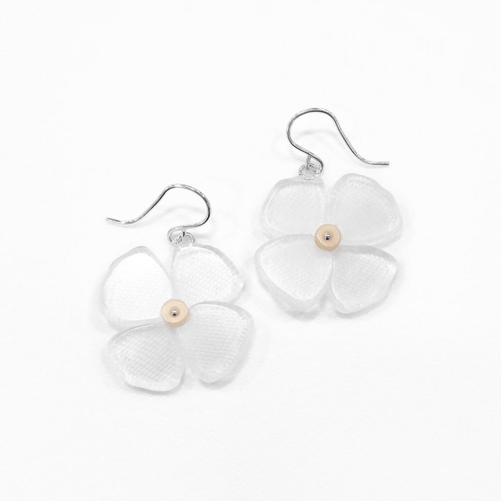 California Poppy Earrings in Clear Etch - Small