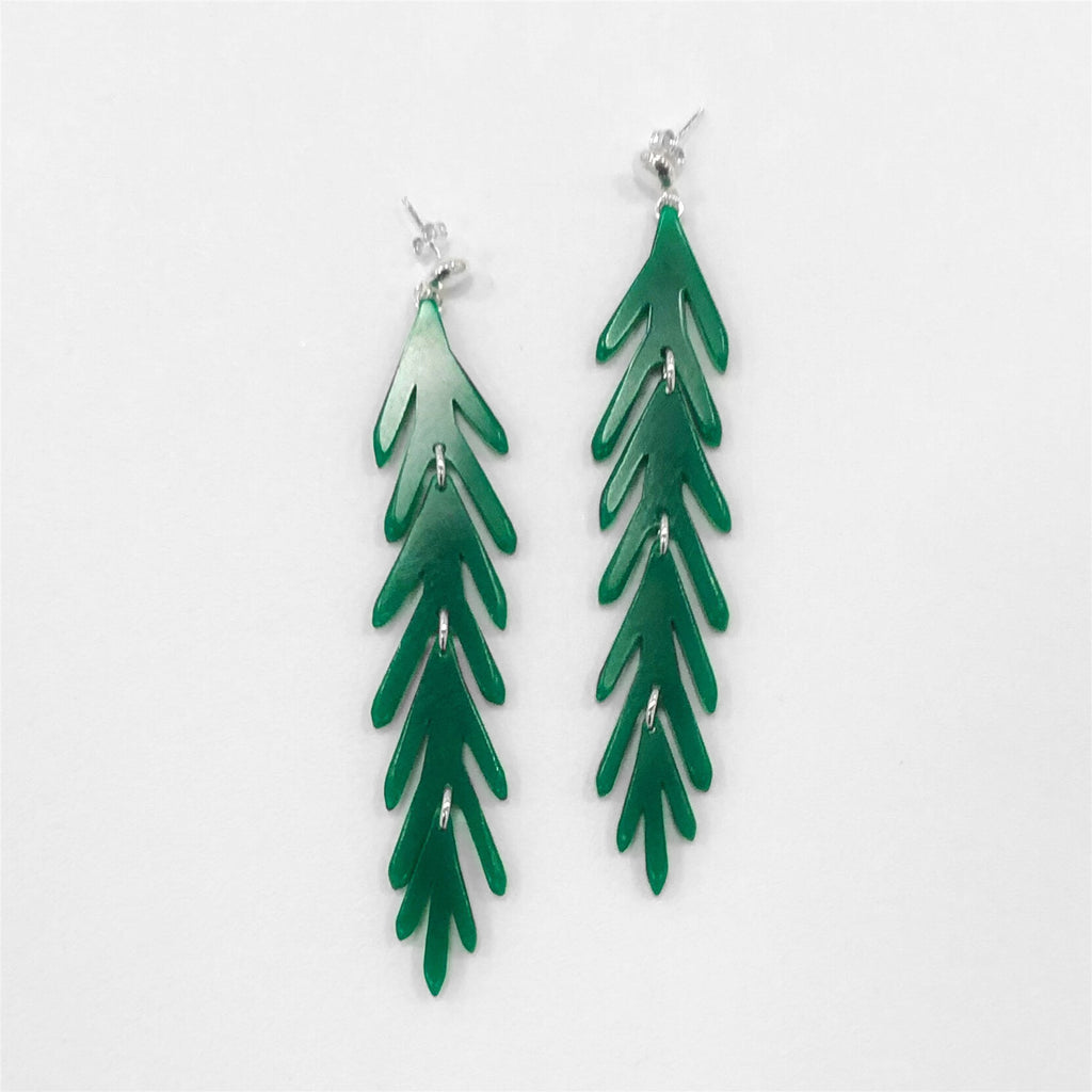 Long Leaf Earrings on Post