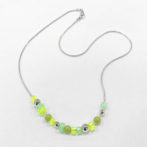 Collector Necklace - Serpentine/Neon Green