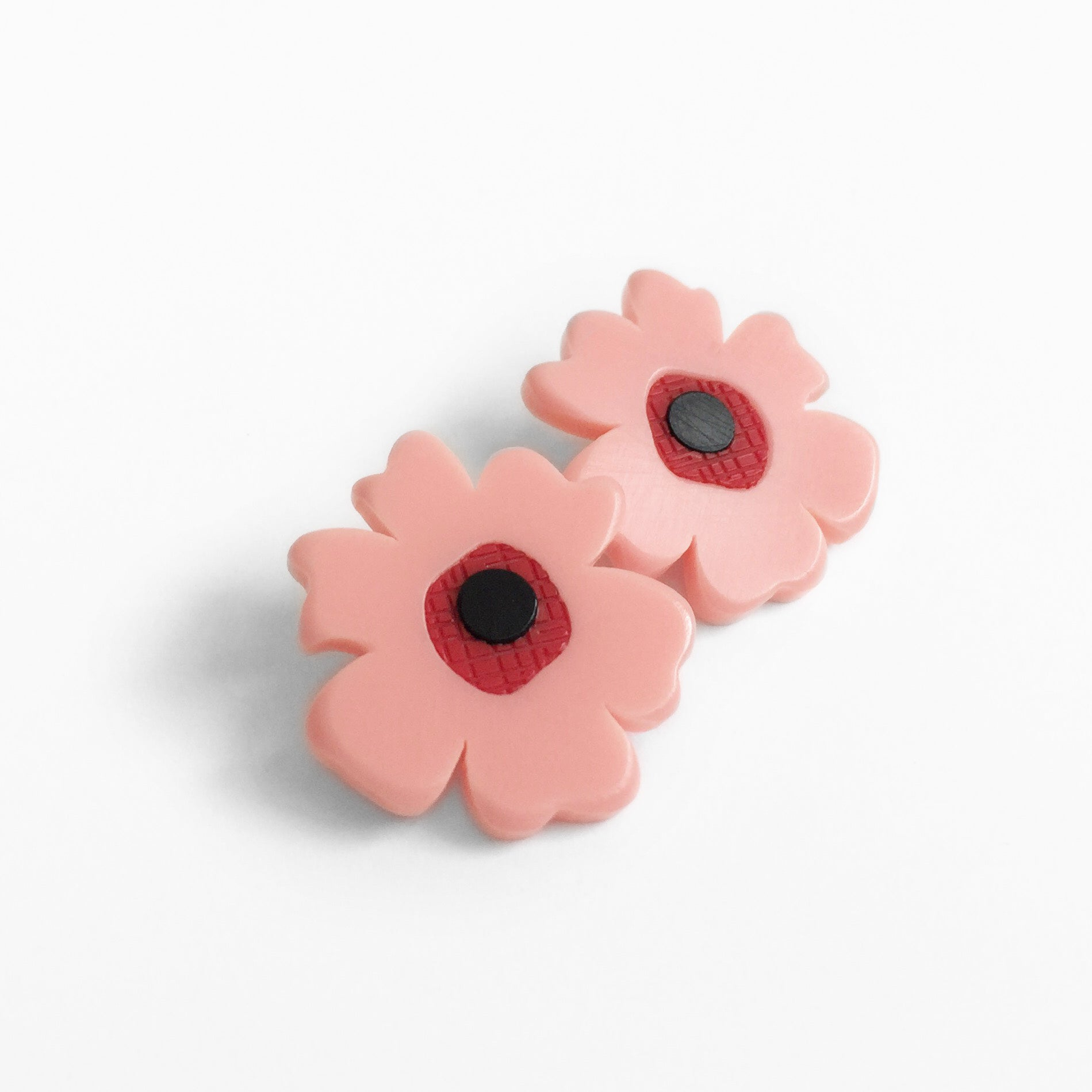 Poppy Post Earrings - Pink