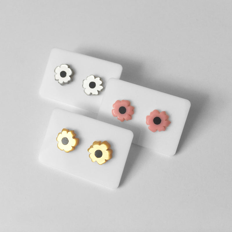 Metallic Mini Poppy Studs