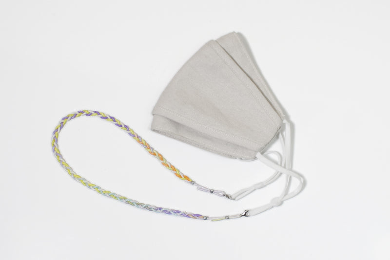 braided mask cord in tie dye