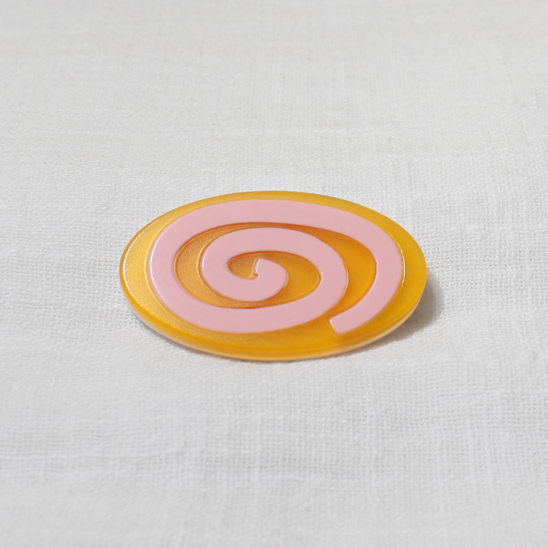 spiral hair clip in gum pink and orange