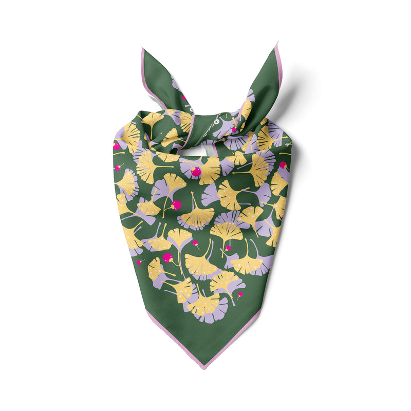 Ginkgo Bandana in Green