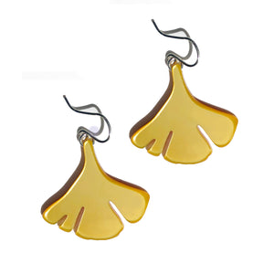 Ginkgo Earrings in Gold