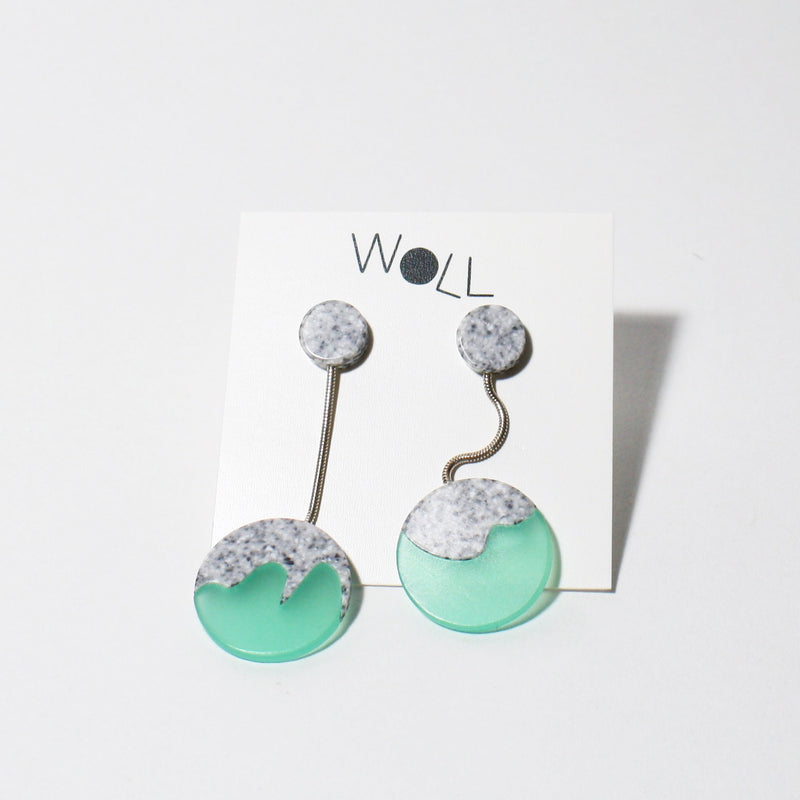 Green Rocks Bauble Earrings