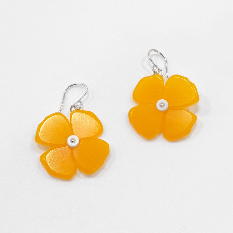 California Poppy Earrings in Melon - Small