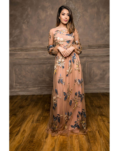 Balloon Sleeve Maxi Dress