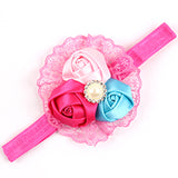 Baby Hair Bows Flower Lace Headbands