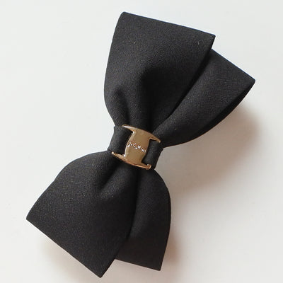 Elegant Two Layers Hair Bows With Metal Buckle Hair Accessories For HER