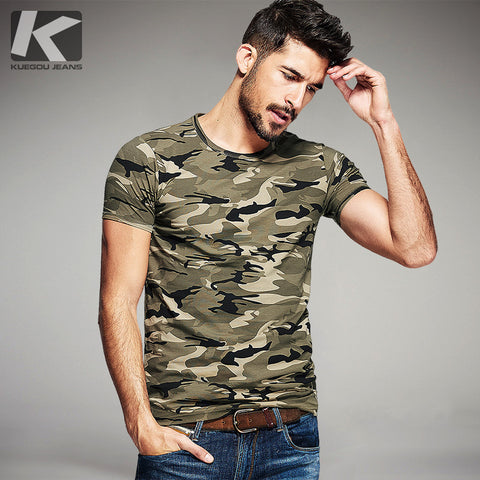 Summer Fashion Camouflage Slim T-Shirts