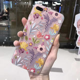 3D Relief Peach Lace Floral iPhone case