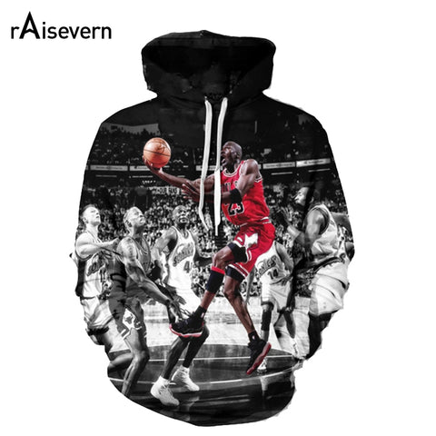 Raisevern 2017 Men/Women 3D Hoodies Jordan