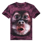 2017 3D T Shirt Animal O-Neck Tiedye