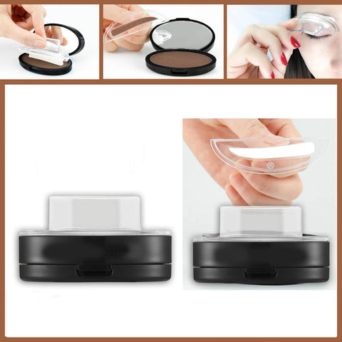Natural Arched Eyebrow Stamp  Powder Pallette