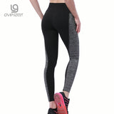 Plus Size Black/Gray Women's Fitness Leggings Workout