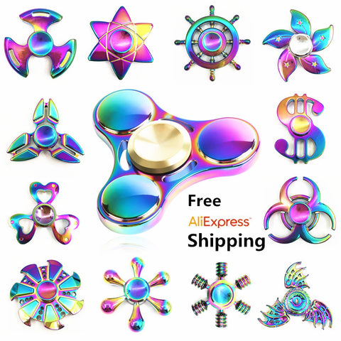 Rainbow brass Fidget Spinner